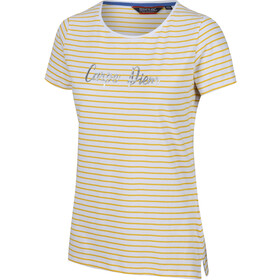 Regatta Olwyn Camiseta Mujer, yellow sulphur stripe